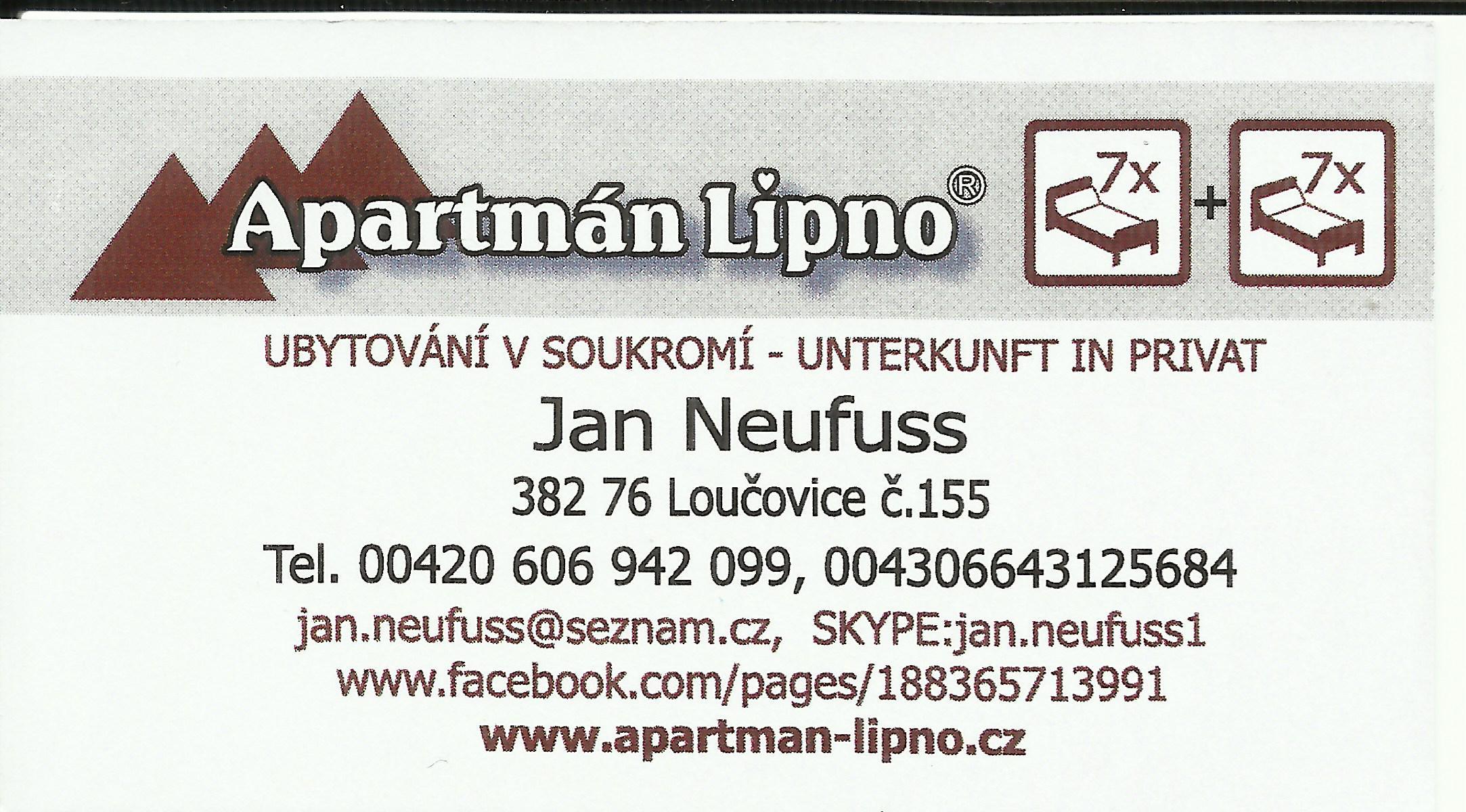 Apartmán Lipno - Ubytování v soukromí.