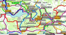 Tourist map of the Loučovice ....