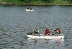 Fishing in the lake Lipno